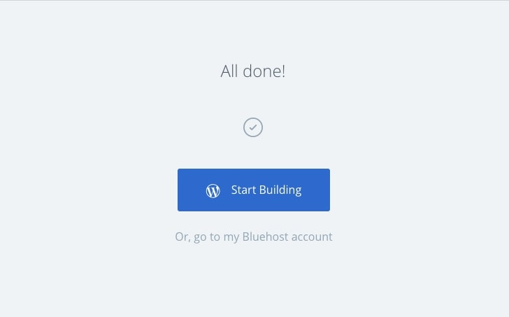 bluehost start building