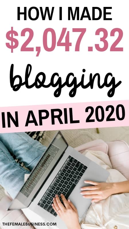 april 2020 blog income report
