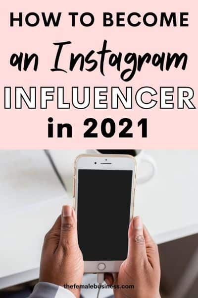 how to become an Instagram influencer pin graphic