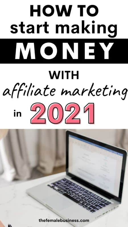 how to get started with affiliate marketing pin for Pinterest